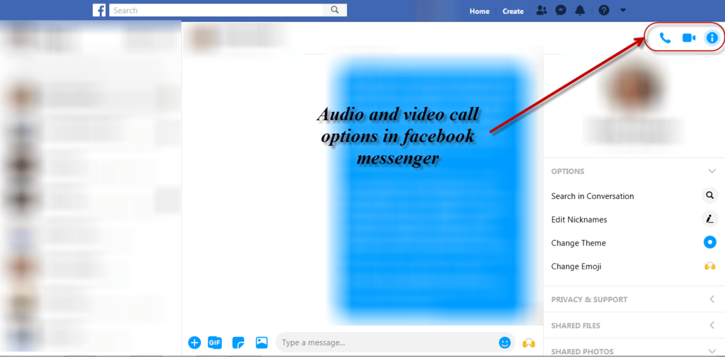 mental health during lockdown - audio and video call options in facebook messenger
